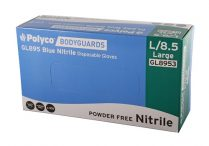 bodyguard powder free nitrile gloves large
