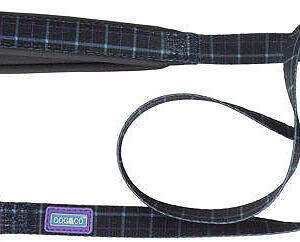 country-check-dog-lead blue
