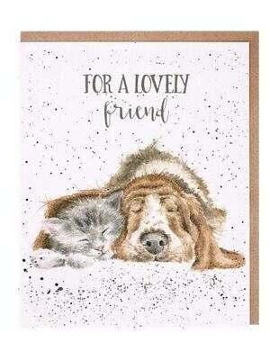 dog and catnap card