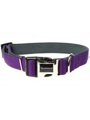 doodlebone padded collar purple