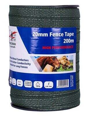 fenceman green 20mm tape