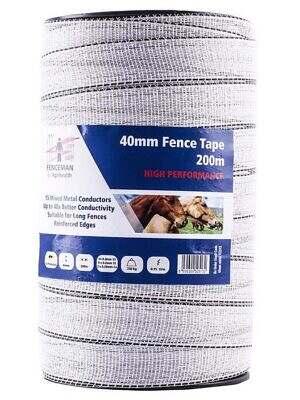 Fenceman High Performance Tape - White - 40mm x 200m