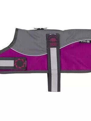 Grey Raspberry Padded Harness Coat