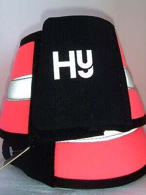hy reflective over reach boots pink