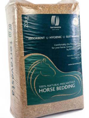 natural miscanthus horse bedding